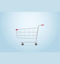 Shopping cart flat design vector