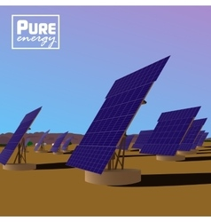 Solar power plant Eco saving technology vector