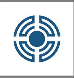 Sound wave logo design element vector