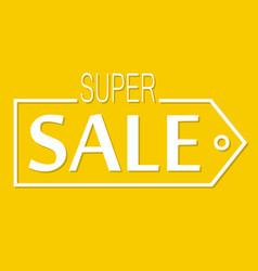 super sale discount banner vector image
