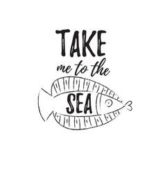 take me to sea vector image