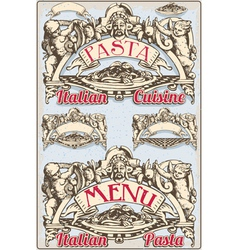 Vintage Graphic Element for Italian Pasta Menu vector image