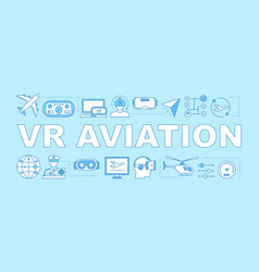 Vr aviation word concepts banner vector
