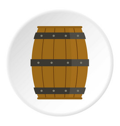 Wooden barrel icon circle vector