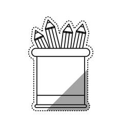 Wooden pencil school vector