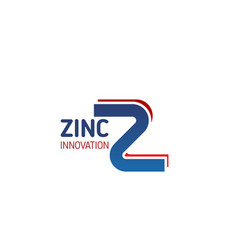zinc innovation industry letter z icon vector image