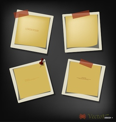 Collection of paper text bubbles vector image vector image