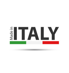 made in italy colored symbol with italian tricolor vector image vector image