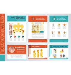 Osteoporosis report book cover and presentation vector image vector image