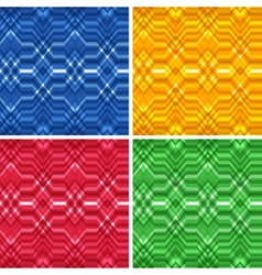 Set of Seamless Color Abstract Retro Backgrounds vector image