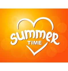 Summer time - typographic design vector image