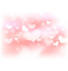 Abstract warm valentine background template vector image