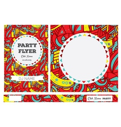 Club Flyers with copy space vector image vector image