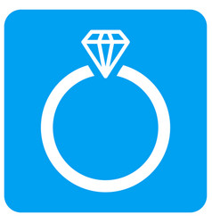 diamond ring rounded square icon vector image