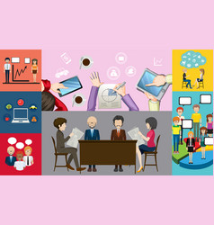 infographic design for business people working vector image