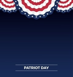 Patriot day web banner and background design vector image vector image