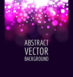 abstract bokeh vector image vector image