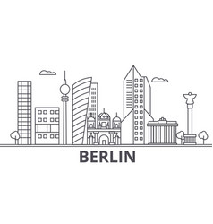 berlin architecture line skyline vector image