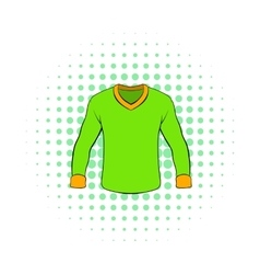 Mens shirt with long sleeves icon comics style vector image vector image