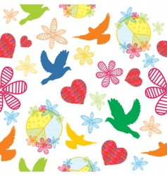 Peace seamless background vector