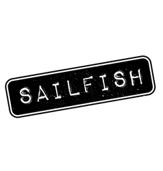 Sailfish rubber stamp vector