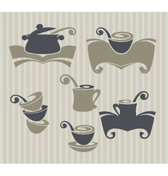 collection of cooking stuff and food symbol vector image