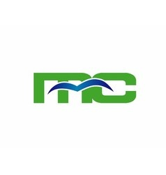 Letter M and C logo vector image