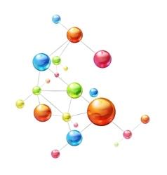 Molecule on white vector image