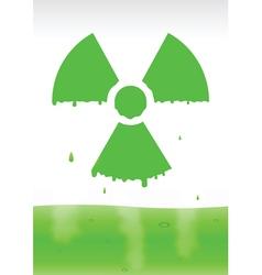 radiation icon2 vector image vector image