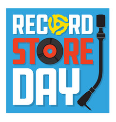 record store day design vector image vector image