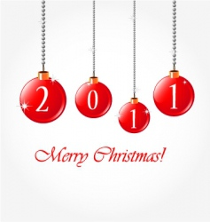 2011 merry Christmas vector image