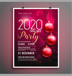 2020 celebration new year occasion event flyer vector