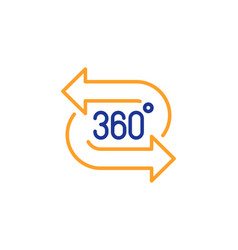 360 degree line icon vr technology simulation vector