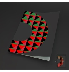 A4 Business Blank Abstract vector