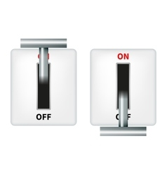 an electric knife switch vector image