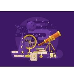 Astronomy design retro vector image