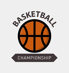 Basketball championship Badge vector image