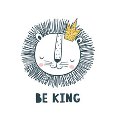 be king vector image