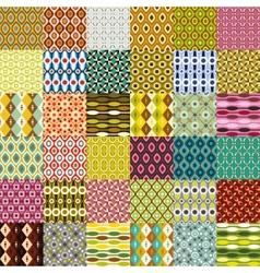 Big retro pattern collection vector