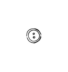 Black cloth button closeup on white background vector