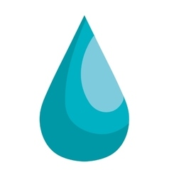 Blue natural drop water theme design vector image