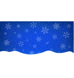 blue winter background with snowflakes abstract vector image