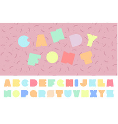 Bright colorful font funny english alphabet vector