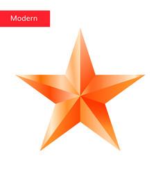 Bronze star 3d icon vector