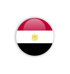 Button egypt flag template design vector
