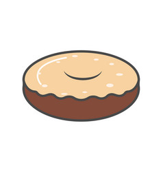 Chocolate donut isolated icon vector