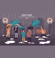 Cloudy rainy day vector