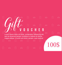 collection stock gift voucher style vector image