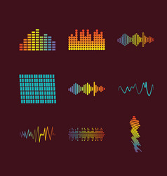 Color logo equalizer vector