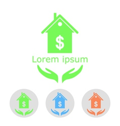 Concept of house sale vector